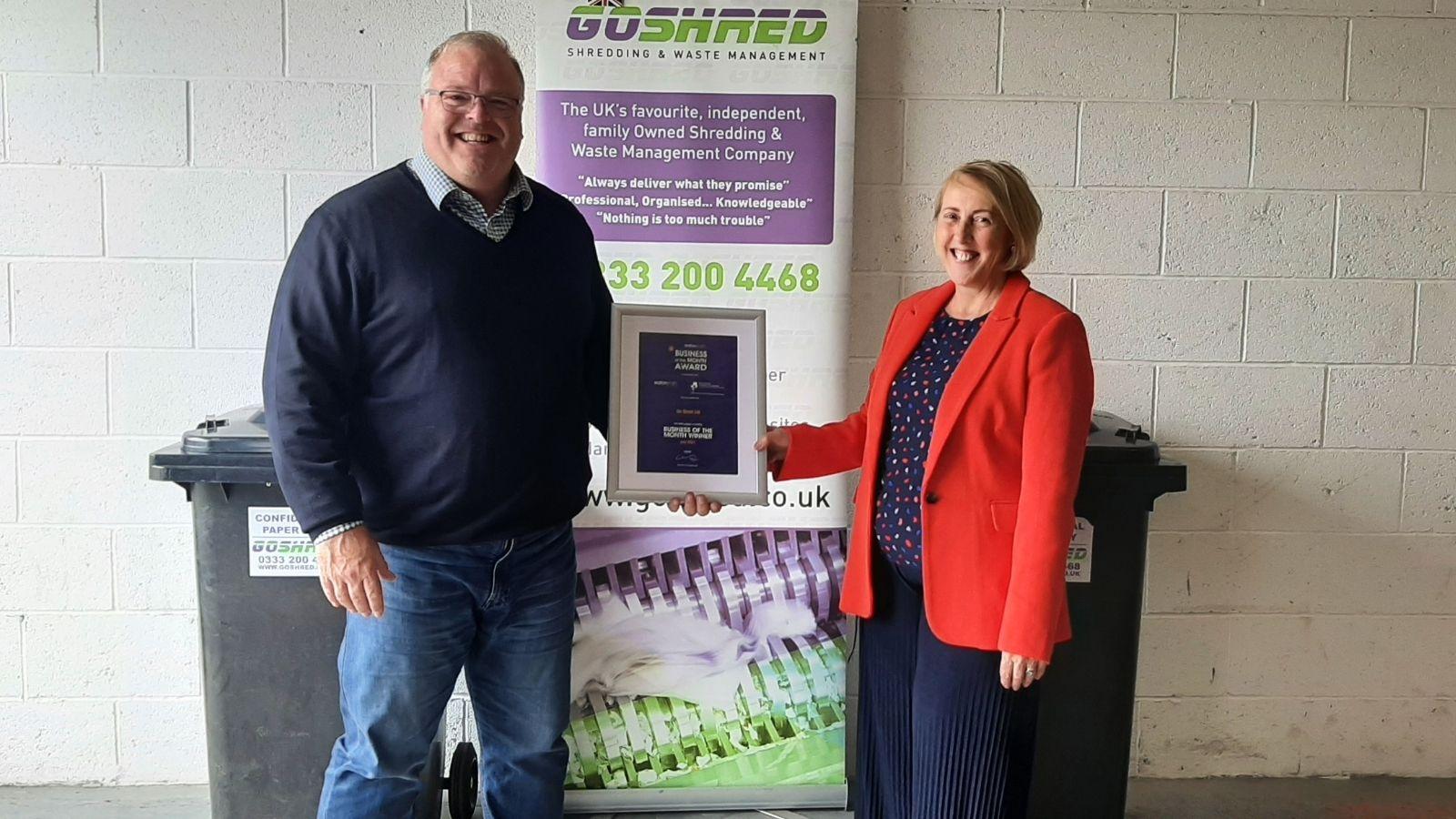Go Shred win prestigious Business of the Month Award